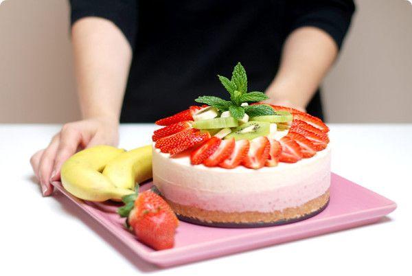 Tarta helada de frutas con Thermomix | Velocidad Cuchara