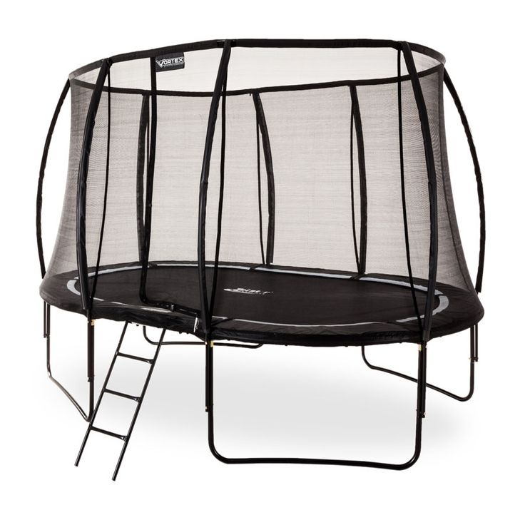 10 x 7ft Oval Telstar Trampolines Vortex BLACK Edition Package with FREE Cover and Ladder