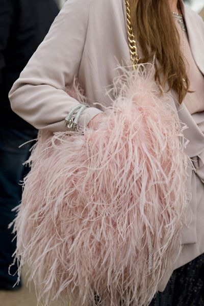 A soft, feathery & Fun bag!