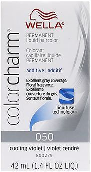"""""""Color Charm Liquid Permanent Hair Color 50 Cooling Violet""""... and this is going to be what I use next.... once all of the Ultra Violet is used up (or I just get antsy wanting to try something different!)"""