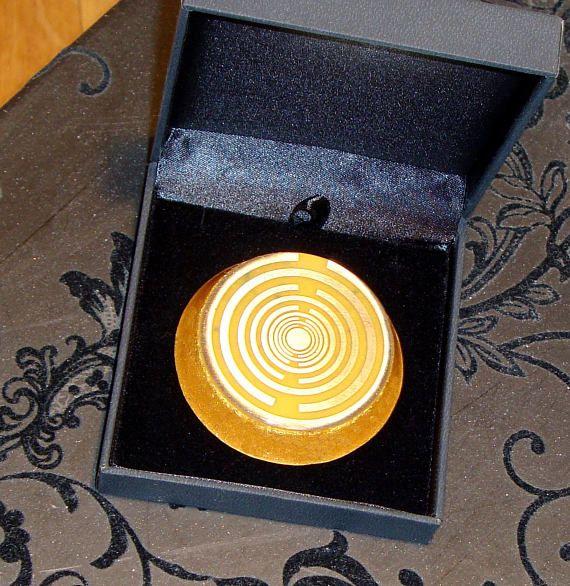 Orgone orgonite® pocket size, power of gold, 2 gold-plated (24K) Lakhovsky MWOs, Golden Ratio Antenna, abundance, welfare, prosperity