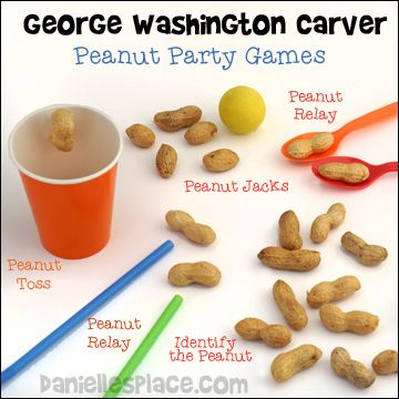 George Washington Carver Peanut Party Games from www.daniellesplace.com