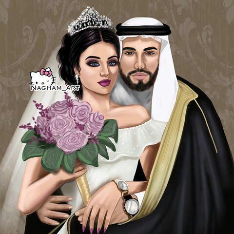 Pin By Nazo On Bride Couple Wedding Girly M Bride Cartoon Wedding Illustration