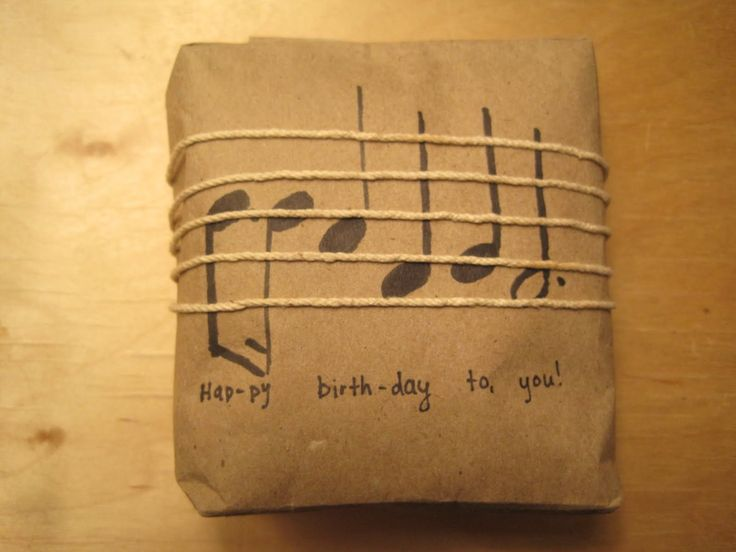 Actually I think non-musicians could appreciate it as well. I made this for my roomate. Happy Birthday Hannah!    I got this idea while pack...