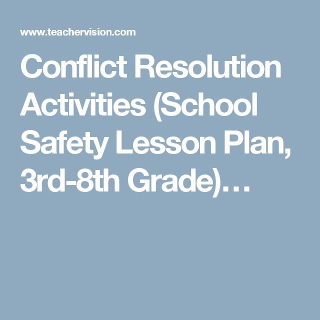 Conflict Resolution Activities (School Safety Lesson Plan, 3rd-8th Grade)…