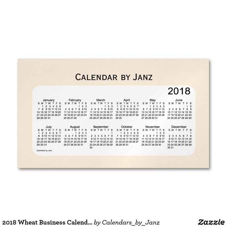 2018 Wheat Business Calendar by Janz Magnet
