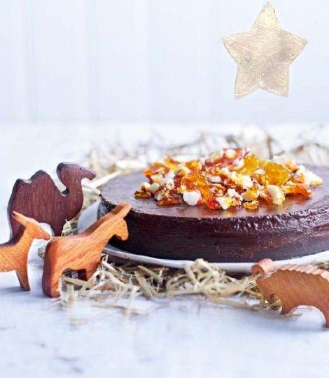 Chocolate (mmm), Coffee (mmm), and Marsala Torte with Macadamia Brittle....  Heaven!