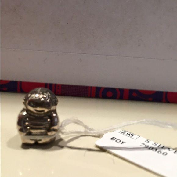 NEW Authentic Pandora Boy charm New Pandora boy charm. Never used, still has authentic tag. Make an offer!!! Pandora Jewelry