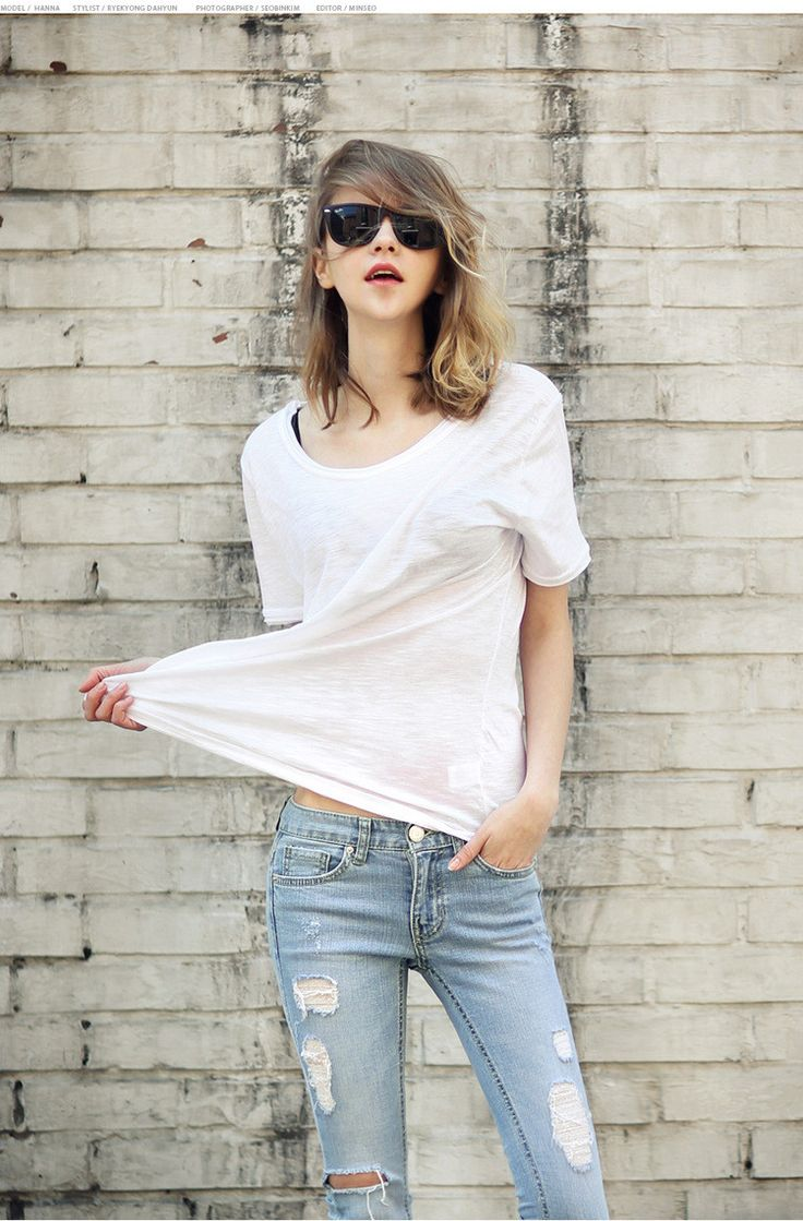 Scoop Short Sleeves Pure Color Casual Loose T-shirt