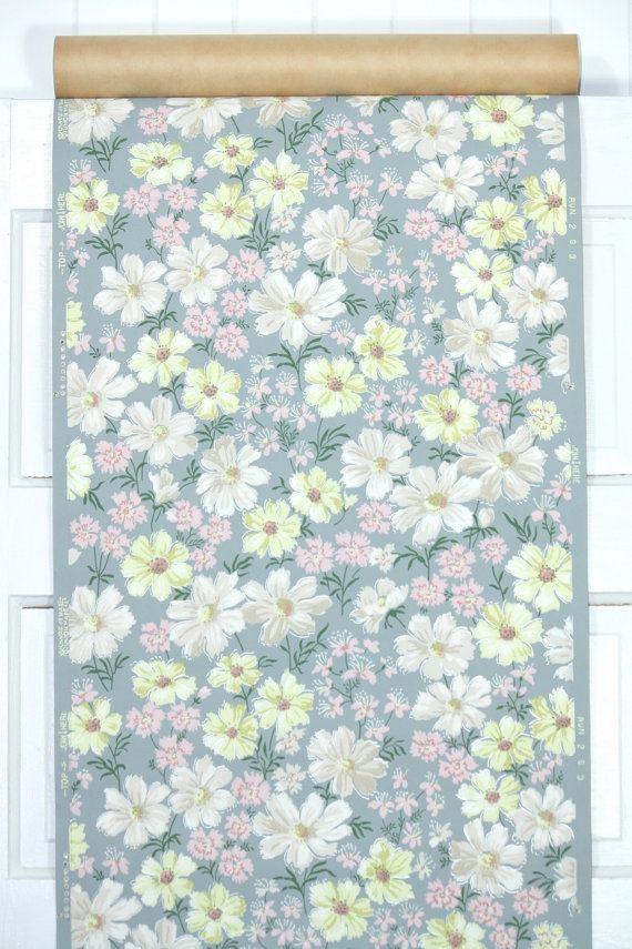 1940's Vintage Wallpaper Floral Vintage by HannahsTreasures