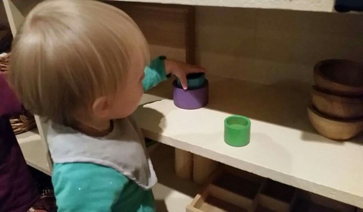 Interesting simple play objects are the perfect invitation for active infants who enjoy the freedom of movement and uninterupted play.