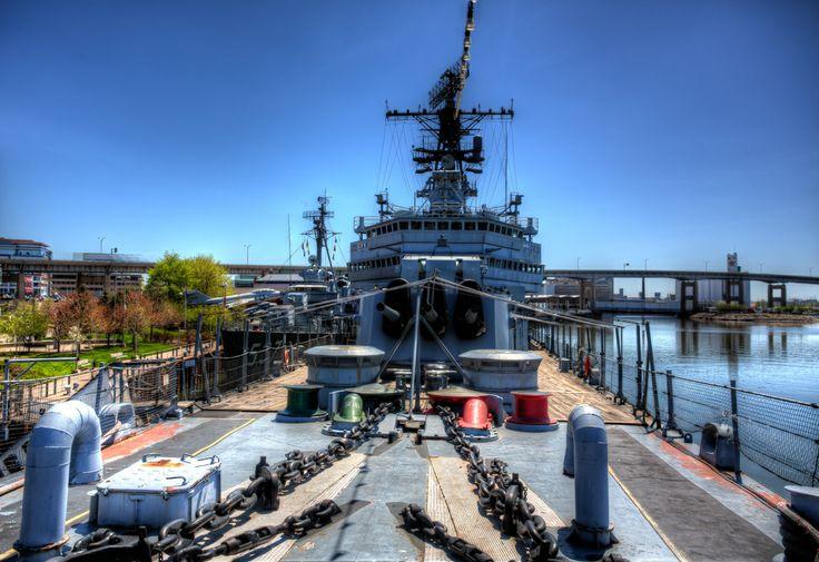 Gun Turret on Deck of the USS Little Rock