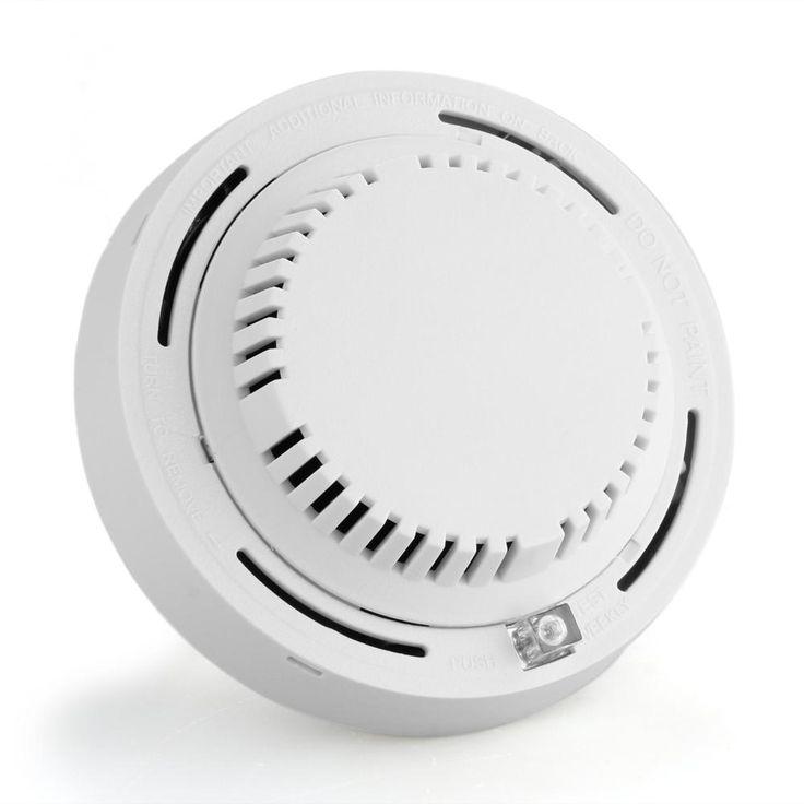Kabel Detektor Asap Asap Sensor Sistem Alarm untuk Rumah Dalam Ruangan Keamanan dengan LED Indikator DC 12 v Kualitas Tinggi