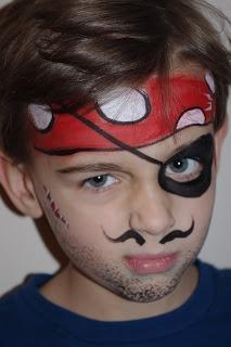 Pintura facial de Pirata