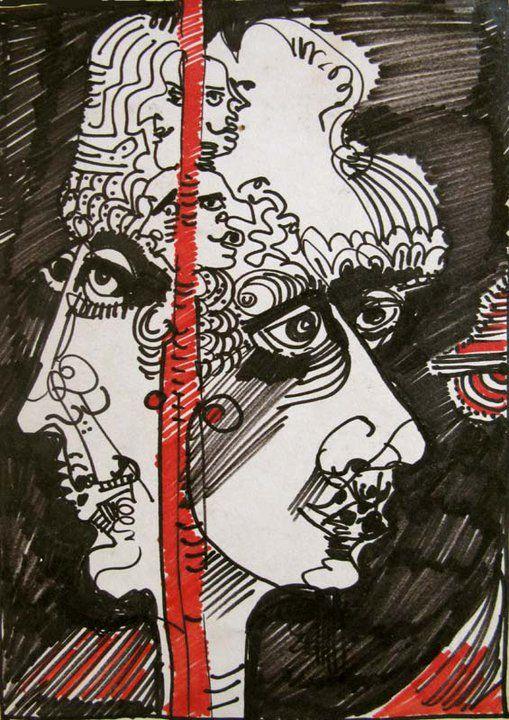 INK PEN ON PAPER - FRODE SVANE