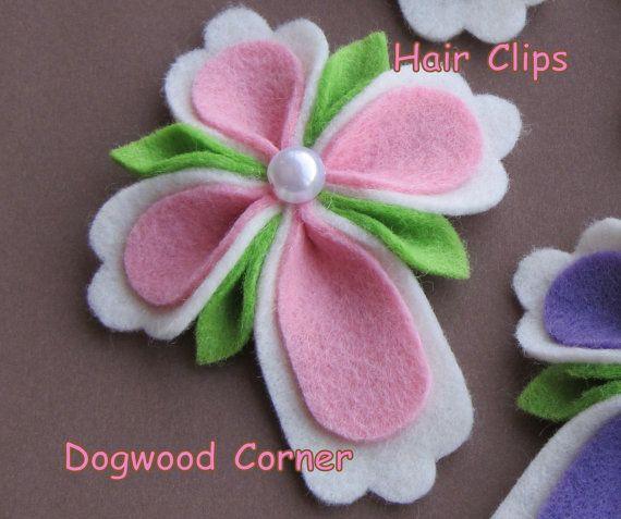 Pink Felt Easter Religious Christian Cross Hair by Dogwoodcorner, $3.50