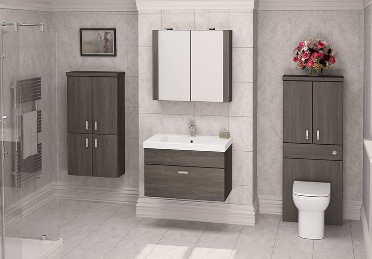 Mali Oak Modular Bathroom Furniture - Mali Oak modular furniture is quite simply stunning. The luxurious finish complements a deep basin unit beautifully, creating a truly impressive look in a larger bathroom.