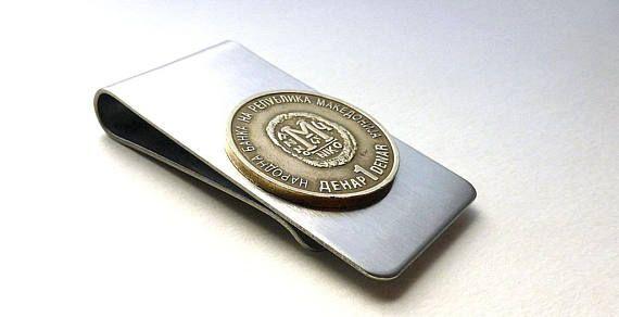 Coin money clip  FYROM  Men's wallet  Money  Men's