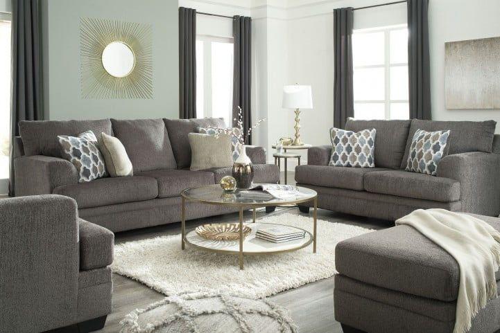Dorsten Slate Living Room Set In 2020 Silver Living Room Modern Casual Living Room Living Room Sets #silver #living #room #furniture