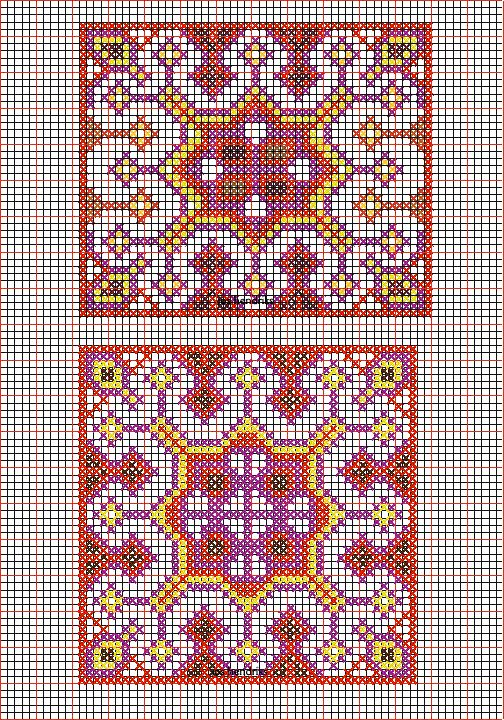 Miao embroidery design and cross stitch chart hmong