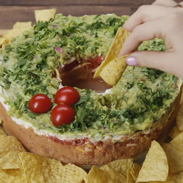 5 Layer Holiday Wreath Bean Dip                                                                                                                                                                                 More
