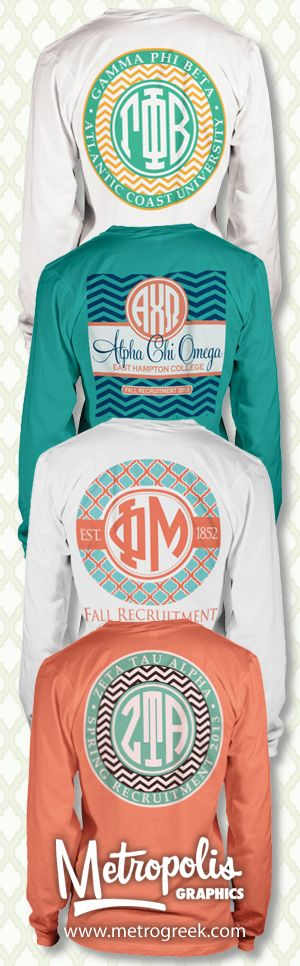 Super cute collection! Just change the sorority names to monograms haha