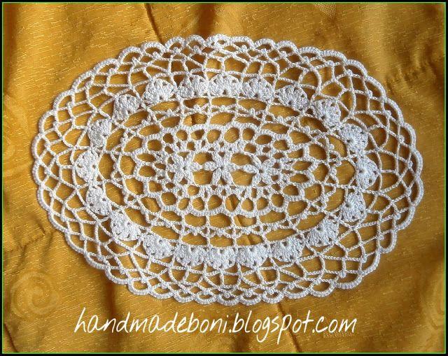 HandmadeBoni: Owalna serwetka 35/24 cm. Tutorial.