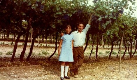 Marilisa and her father, Giovanni Allegrini in the vineyards.  Already he was implementing major innovations in a constant search for enhancing the quality and wine-growing potential of his land.