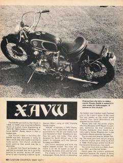 Von Dutch XAVW Motorcycle   I want to build one of these