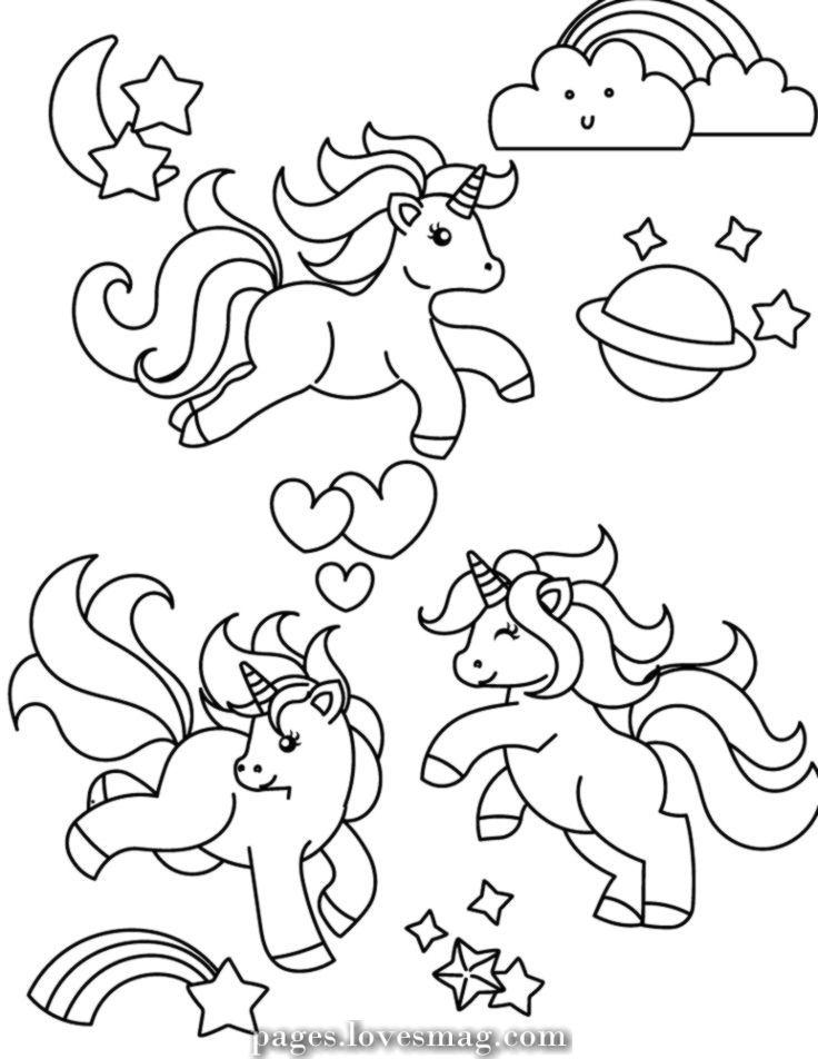 Unicorn Illustration Everything Is Magic Laura Szumowski Unicornpictures Unicorn Coloring Pages Unicorn Illustration Unicorn Drawing