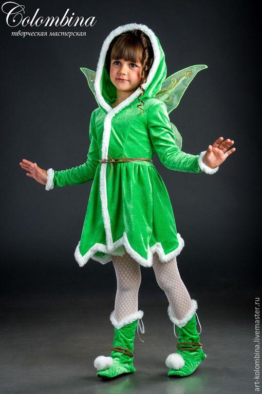 Купить Костюм феи Динь-динь - салатовый, фея, костюм феи