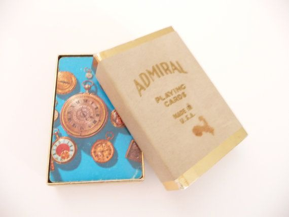 Vintage Playing Cards Admiral Playing Cards Steampunk Watch