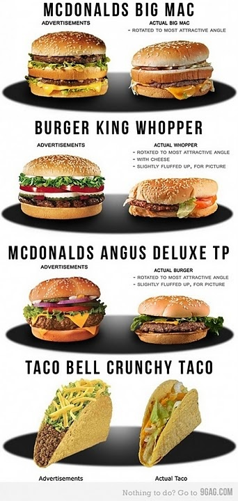 The true face of fast food...Real Life, The Real, Junk Food, Funny Commercials, Fast Food, Food Photo, True Stories, Big Mac, Fast Foods