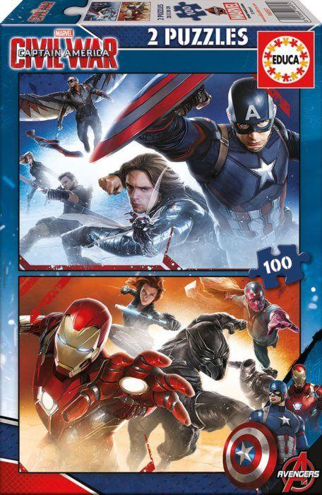 EDUCA Captain America: Občanská válka 2x100 dílků