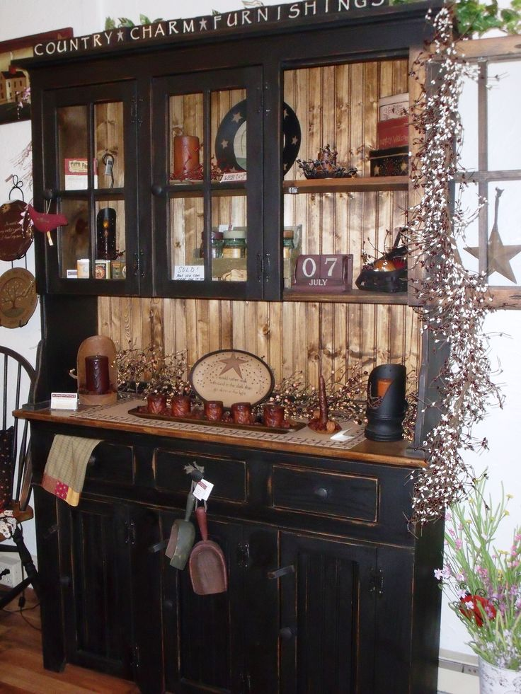 Antique Hutch Decor