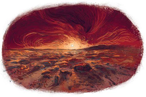 На Марсе есть полярные льды и горы-великаны. Самая высокая гора на Земле — Эверест. А марсианская гора Олимп почти в три раза его больше! Таких великанов не встретишь ни на какой другой планете Солнечной системы!