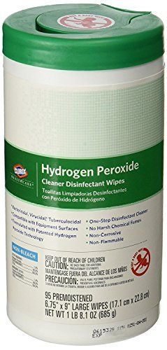 """Clorox 30824SPG Saalfeld 30824 Healthcare Hydrogen Peroxide Cleaner Disinfectant Wipes, 6.75"""" x 9"""", XL Wipe, 4.2"""" H, 4.2"""" W, 8.4"""" L, Cleaner (Pack of 570)"""