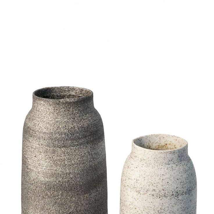 Medium Volcanic Vase by Lightly Australia. Designed by Cindy-Lee Davies for the 2015 'Minerals' collection. Handmade from black volcanic sand and porcelain.