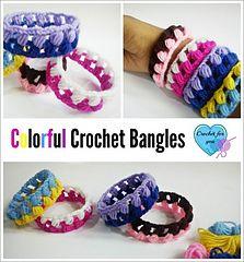 Crochet bangles... Free pattern! ༺✿Teresa Restegui http://www.pinterest.com/teretegui/✿༻