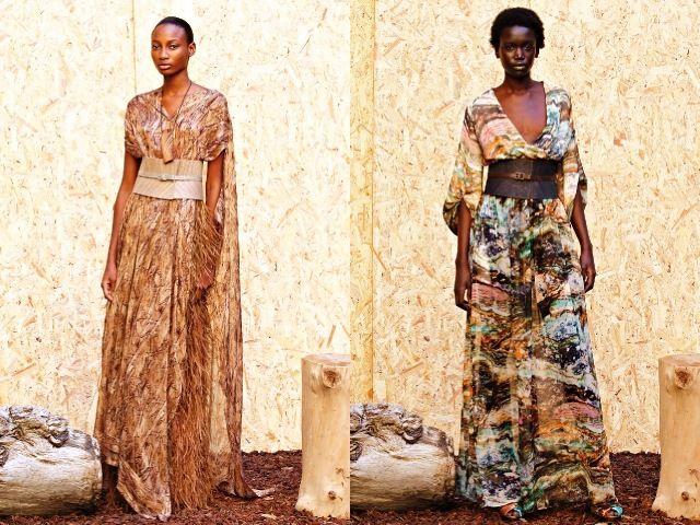 Платья в африканском стиле 2012