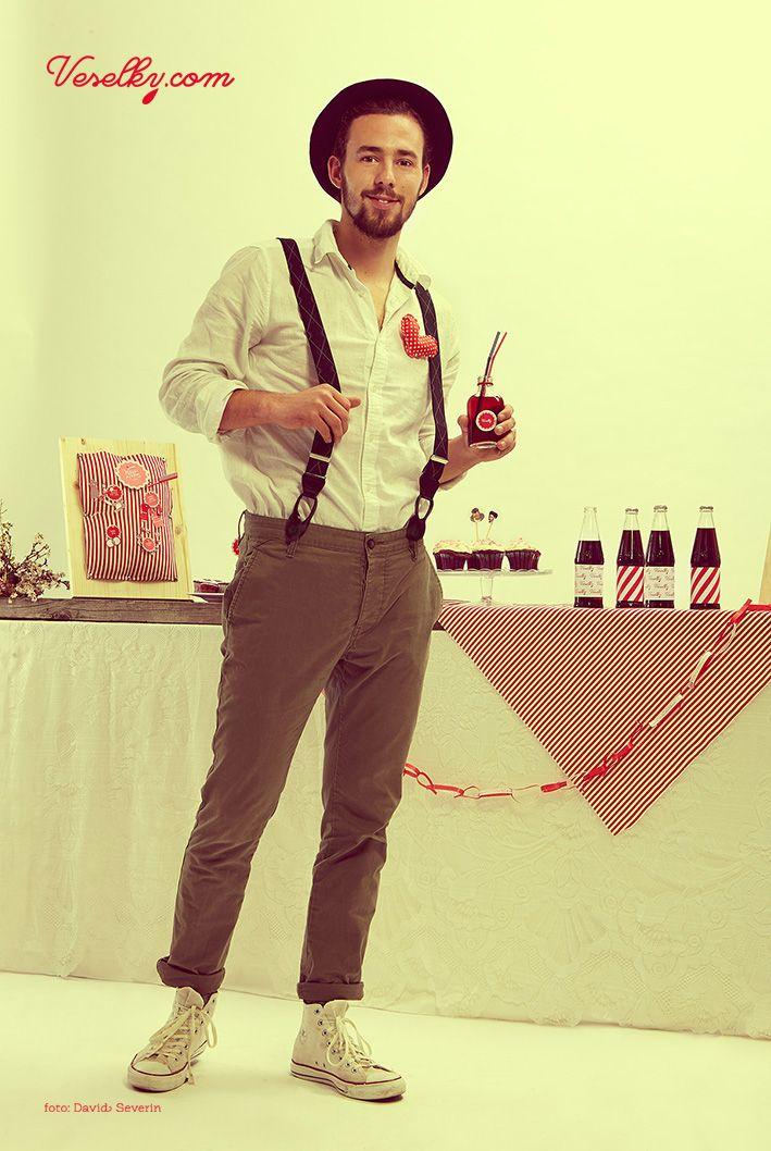 Pin-up wedding, wedding, groom woman, pin up, pin-up, veselky.com, veselky, pin, red,white, style, hairstyle, 50s, 1950, modern, unusual , couple, photo, image, hat, studio, heart, david severin,, love fashion, photo severin, retro, diy, czech republic, simplicity, patern, man, braces, design, czech design, cupcake, food, decoration