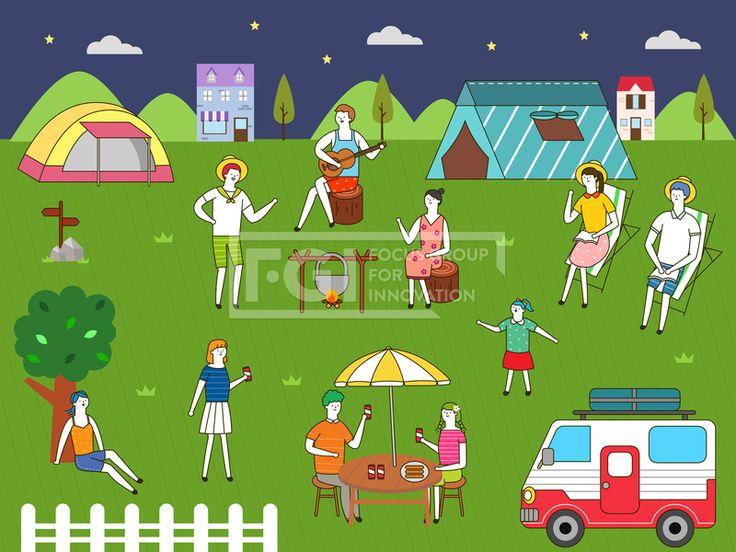 SILL229, 프리진, 일러스트, 생활, 여행, 라이프스타일, 라이프, 벡터, 에프지아이, 사람, 남자, 여자, 단체, 캐릭터, 서있는, 라인, 심플, 패턴, 무늬, 문양, 여름, 전신, 앉아있는, 밤, 저녁, 야간, 캠핑, 텐트, 캠핑카, 자동차, 차, 교통, 식물, 잔디, 잔디밭, 나무, 나뭇잎, 풀, 산, 하늘, 밤하늘, 구름, 별, 모자, 밀짚모자, 음악, 악기, 연주, 통나무, 책, 도서, 독서, 어린이, 소녀, 파라솔, 테이블, 의자, 음료, 울타리, 건물, 건축, 숙박, 펜션, 모닥불, 불, illust, illustration #유토이미지 #프리진 #utoimage #freegine 19992365