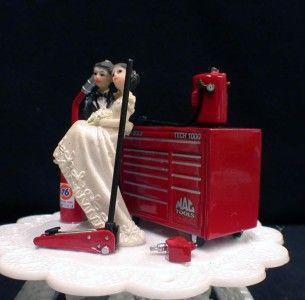 car cake toppers | ... Fannas Car Auto Mechanic Mac 76 Tool Box Wedding Cake Topper | eBay
