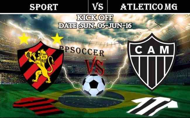 Sport vs Atletico MG 05.06.2016 Free Soccer Predictions, head to head, preview, predictions score, predictions under/over Brazil: SERIE A