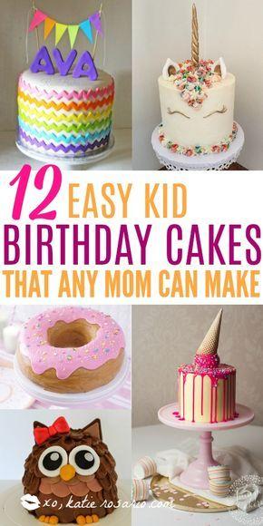 Wie man süße Kindergeburtstagstorten macht! Ich finde es toll, wie einfach es ist, Kuchen zu Hause zu backen …   – Cakes