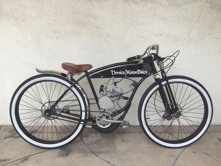 Vintage Schwinn BTR board track racer, vintage motorcycle replica, motorized bicycle, piston bike, Gasbike, Venice