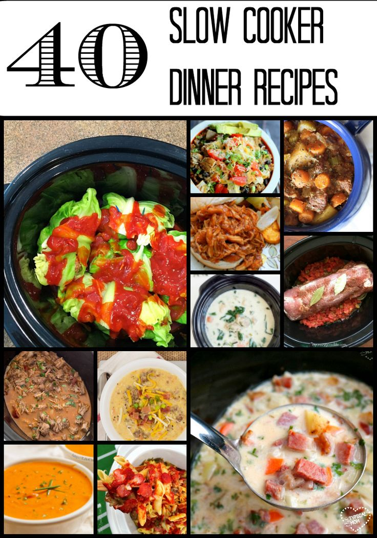 Seriously this is the list you need!! You will be covered for the next few months with EASY slow cooker recipes for dinner.