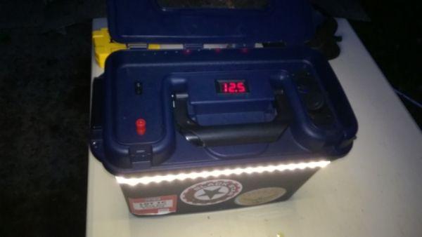 Flip over power box battery box pinterest ice for Ice fishing battery box