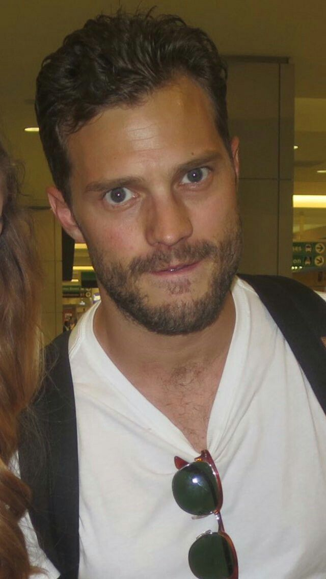 Jamie Dornan arriving at New York Airport 3rd August 2016    I want to bite that lip