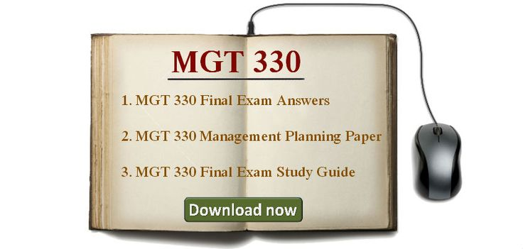 mgt 330 plans are